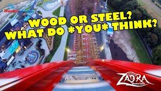 Zadra Roller Coaster REAL Front Seat POV Energylandia Poland