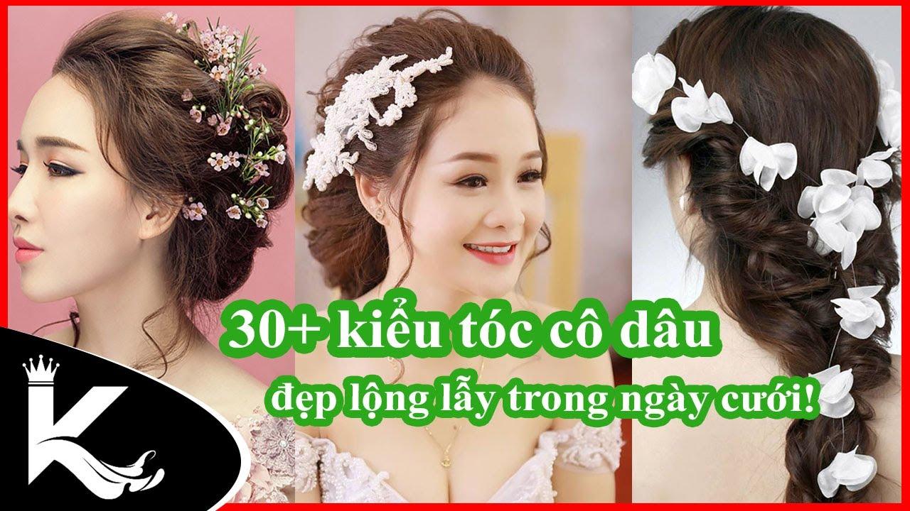 30+ kiểu tóc cô dâu đẹp lộng lẫy 2019 – Trang điểm làm tóc cô dâu