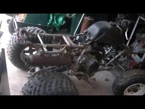 honda atc200 engine transplant to a kawasaki mojave