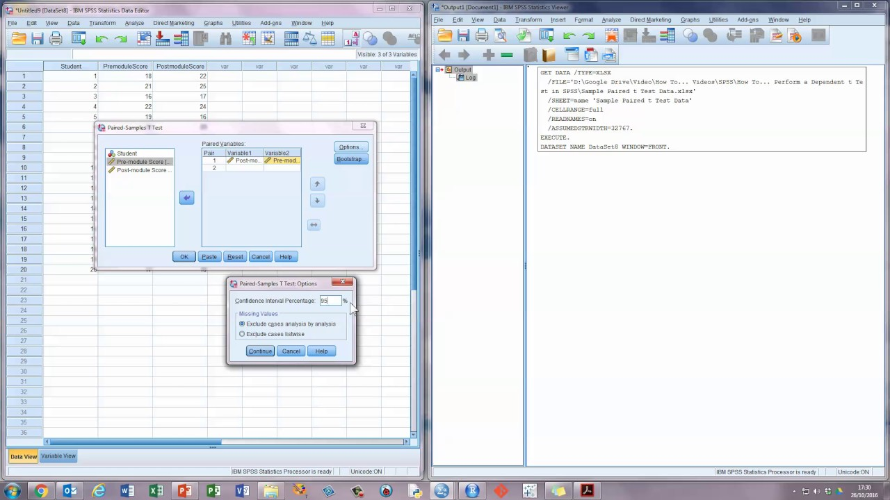 How To Perform A Dependent (paired) Ttest In Spss