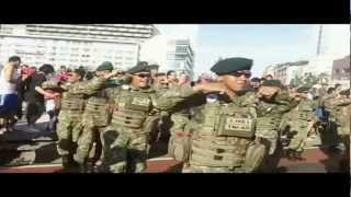 Gangnam Style Flashmob by Indonesian Army Brigif Linud 17/1 KOSTRAD & WWF - Bundaran HI