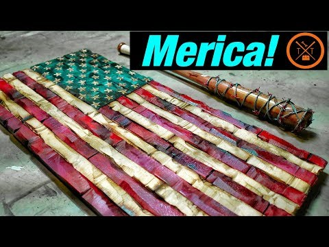 Wooden AMERICAN FLAG for Your Gun Safe //  🇺🇲