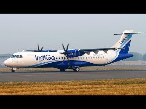 IndiGo ATR 72-600 delivery flight to New Delhi