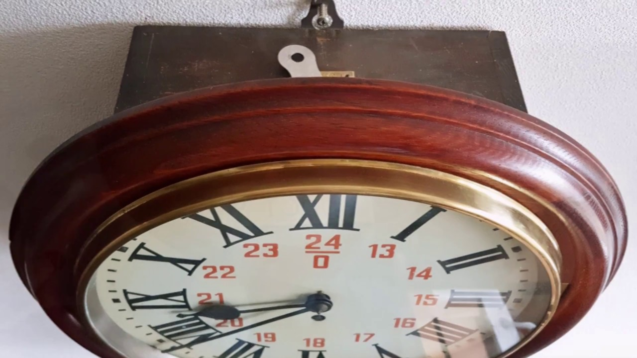 Antique fusee chain drop dial railway station wall clock 12 inch antique fusee chain drop dial railway station wall clock 12 inch amipublicfo Choice Image