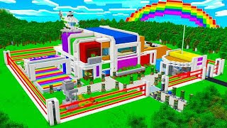 WORLD'S MOST ADVANCED MINECRAFT RAINBOW HOUSE!