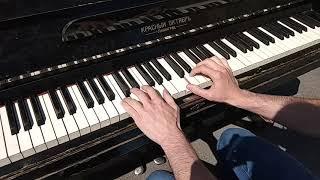 самый простой полиритм (урок на уличном пианино)