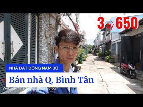 Video nhà bán quận Bình Tân sổ hồng riêng, gần chợ Gò Xoài phường Bình Hưng Hòa A. Hẻm 6m an ninh