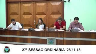 Sessão da Câmara 28.11.18
