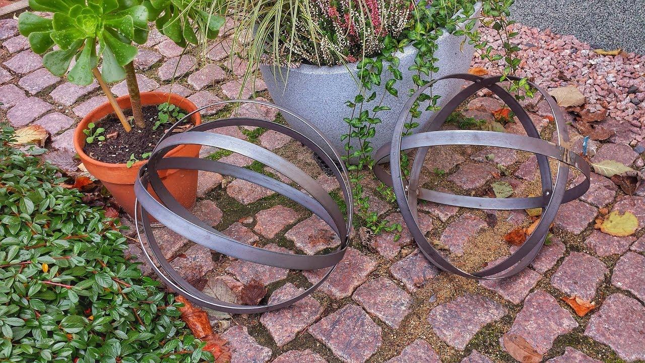 Garten Dekoration Metall Kugel Selber Bauen Dekokugel Edelrost