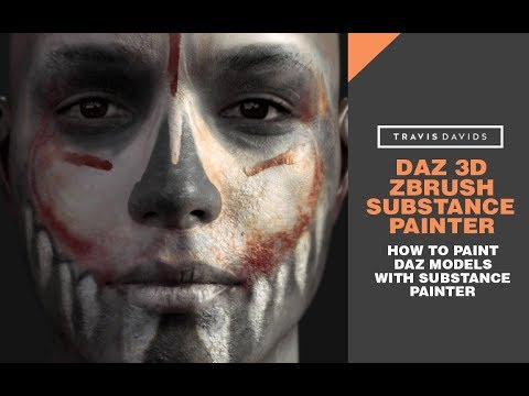 Daz 3D, Zbrush, Substance Painter - How To Paint Daz Models With Substance Painter