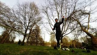UK: Slacklining in Hyde Park