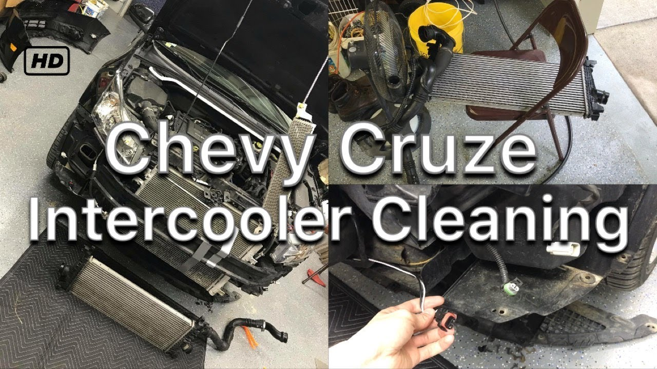 medium resolution of chevy cruze intercooler cleaning 1 4l turbo