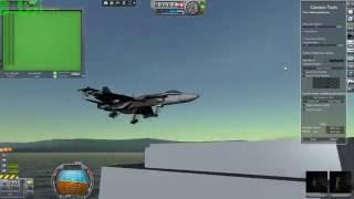 KSP [kOS] Automated Carrier Landing - F/A18 SuperHornet