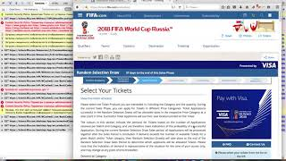 2018 FIFA World Cup Russia   Tickets purchasing problem