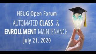 Open Forum: Automated Class and Enrollment Maintenance screenshot 4