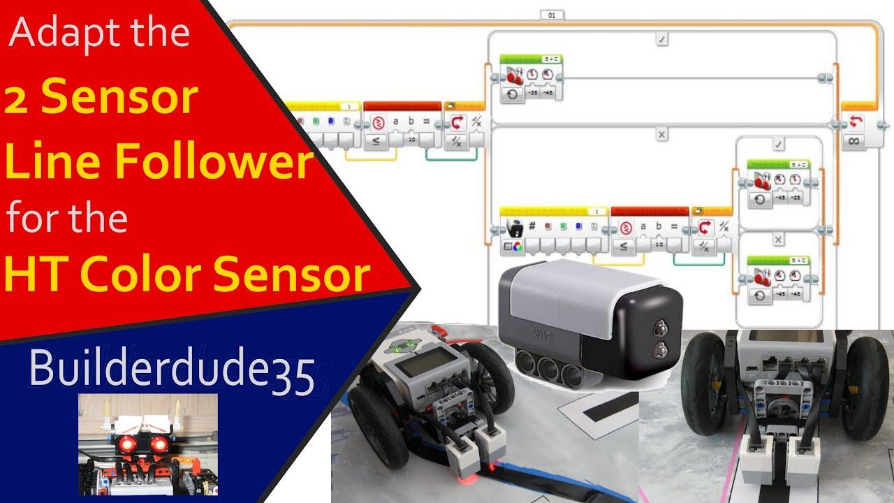 2-Sensor Line Follower for HT Color Sensor V2's - YouTube