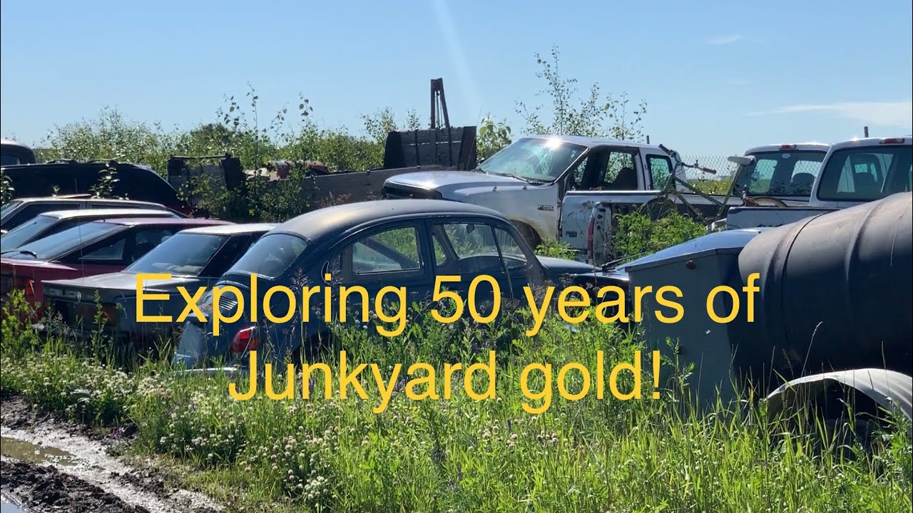 60 years of junkyard cars and equipment! touring Alaskan Equipment.