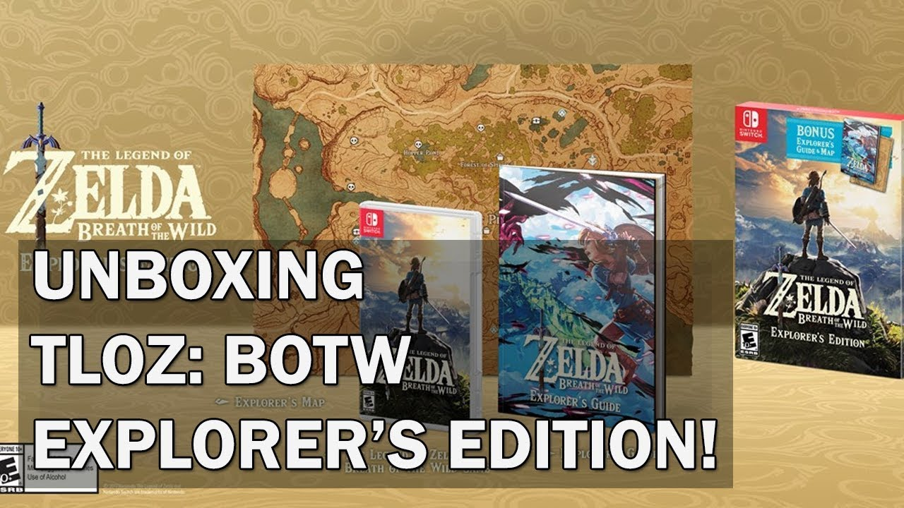 Unboxing The Legend Of Zelda Breath Of The Wild