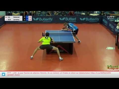 Table Tennis French League 2016/17 - Adrien Mattenet Vs Andrea Landrieu -