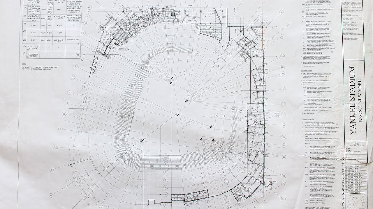 Yankee stadium blueprint up for auction youtube yankee stadium blueprint up for auction malvernweather Image collections
