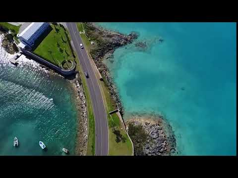 Bermuda aerial view from drone