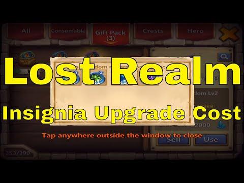 Castle Clash Lost Realm Insignia Upgrade Cost