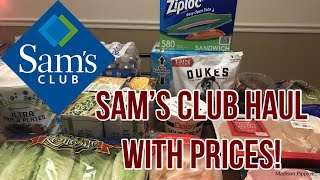 $125 Sam's Club Haul - My First Trip & Prices!