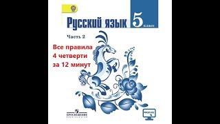 Все правила руского языка за 4 четверть в 5 классе за 12 МИНУТ!