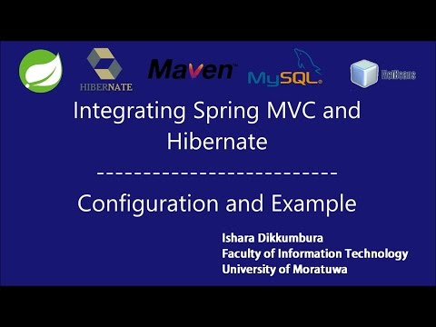 Spring MVC and Hibernate Integration Tutorial - Configuration and