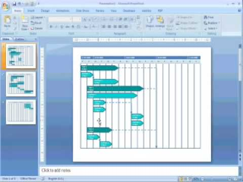 Transfer Gantt charts from MS Project to MS Power Point - YouTube