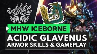 Monster Hunter World Iceborne | Acidic Glavenus Armor, Weapons & Gameplay