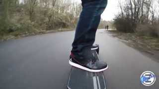 Downhill (Teufelsberg Road 1/3) with an Electric Longboard Evolve Carbon AT - E-Ryder