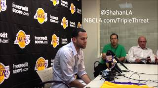 Jordan Farmar Lakers Press Conference - 7/19/2013
