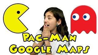 Google maps PAC MAN Game - April Fools Day 2015 Free HD Video