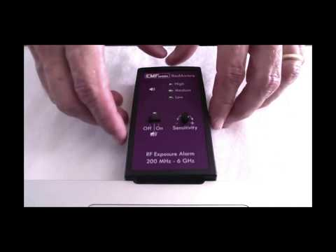 RadAware Personal Microwave (RF) Radiation Exposure Alarm - Short Version