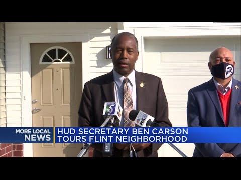 Ben Carson visits Flint as new housing development prepares to open