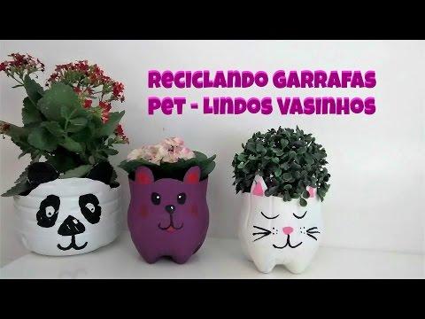 DIY: COMOFAZER Vasinho com Garrafas Pet / Carla Oliveira