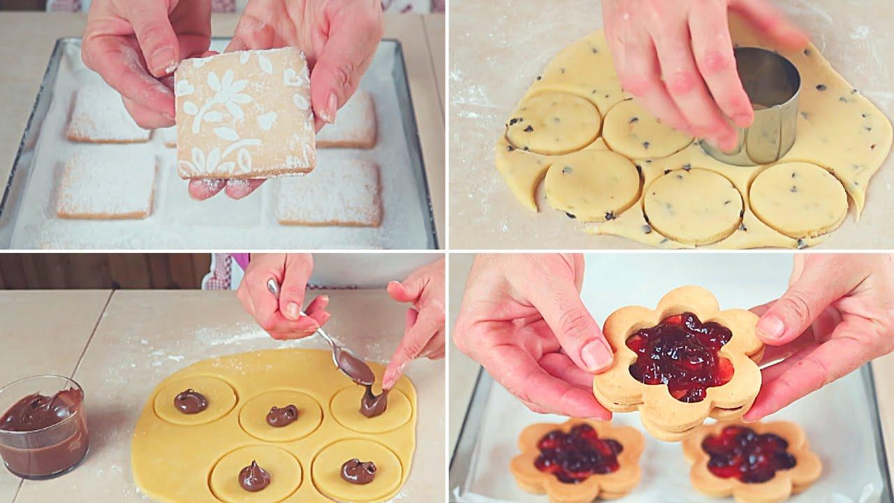Ricetta Pasta Frolla Video.Biscotti Di Pasta Frolla Senza Burro 4 Idee Semplici Youtube