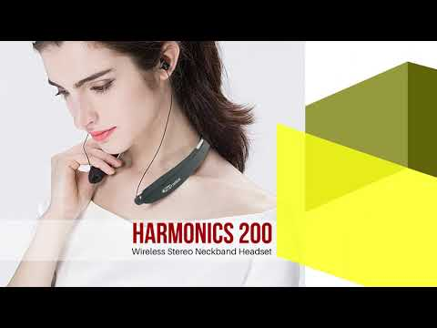 18bf70b08e9 Harmonics 200 - Wireless Stereo Neckband Headset - YouTube