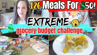 126 Meals For $50! | EXTREME BUDGET GROCERY HAUL 2020
