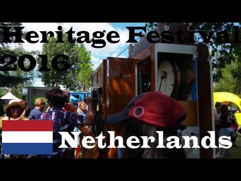 traditional Dutch instrument at Netherlands pavilion - Edmonton Heritage  Festival 2016