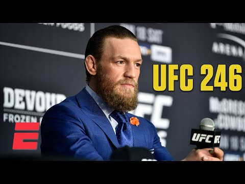 Conor McGregor addresses