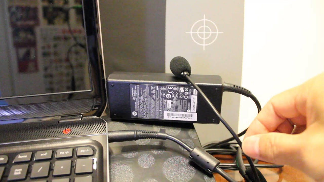 HP laptop power adapter makes a cricket sound when plugged into dead laptop