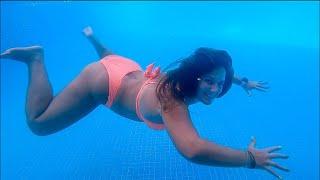 Cool Hotel Pool Fun Swimming in Punta Cana