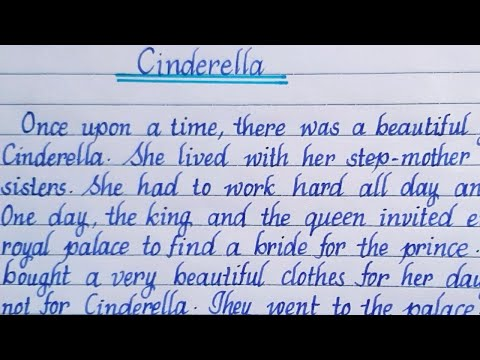 "Story: ""Cinderella""| writing | English writing | handwriting|English story| story writing|Eng Teach"