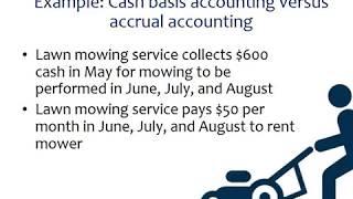 Cash basis accounting versus accrual basis: An example
