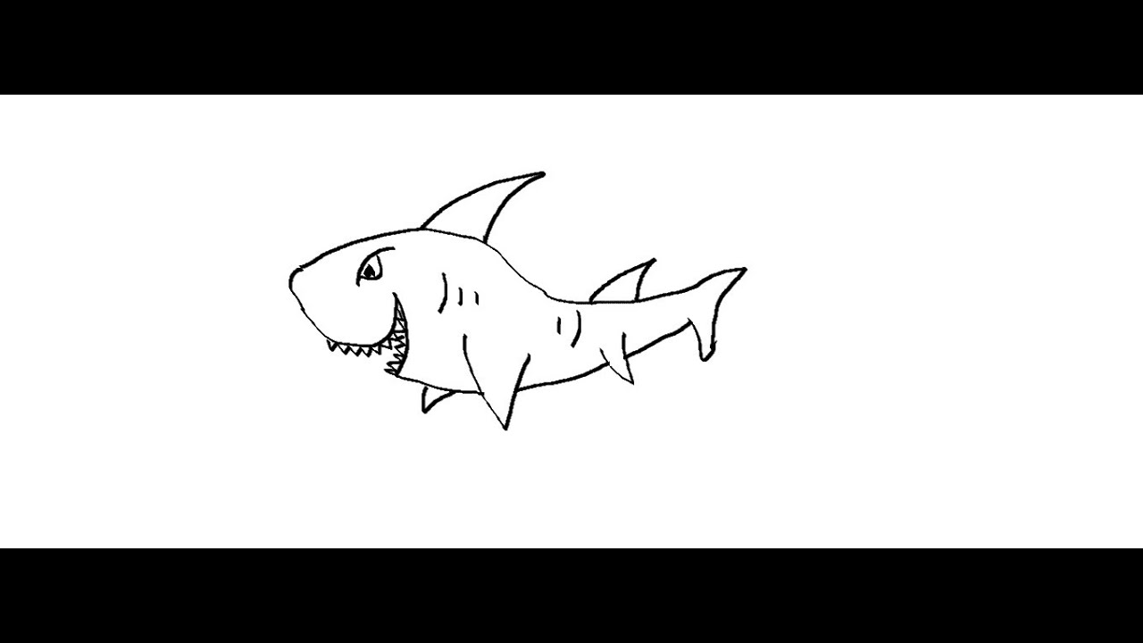 Easy Kids Drawing Lessons How To Draw A Shark For Kids Youtube