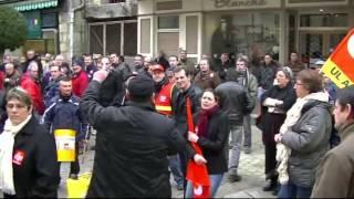 Manifestation des salariés de chez Carrier Alençon