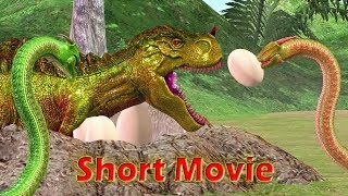 Biggest SNAKES Vs. Cartoon Animals 3D Animation Short Movie| T-Rex Dino Cartoons For Children