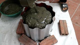 Ideas Making Plant Pots At Home Easy | Reuse Old Corrugated Plate | Beautiful And Simple